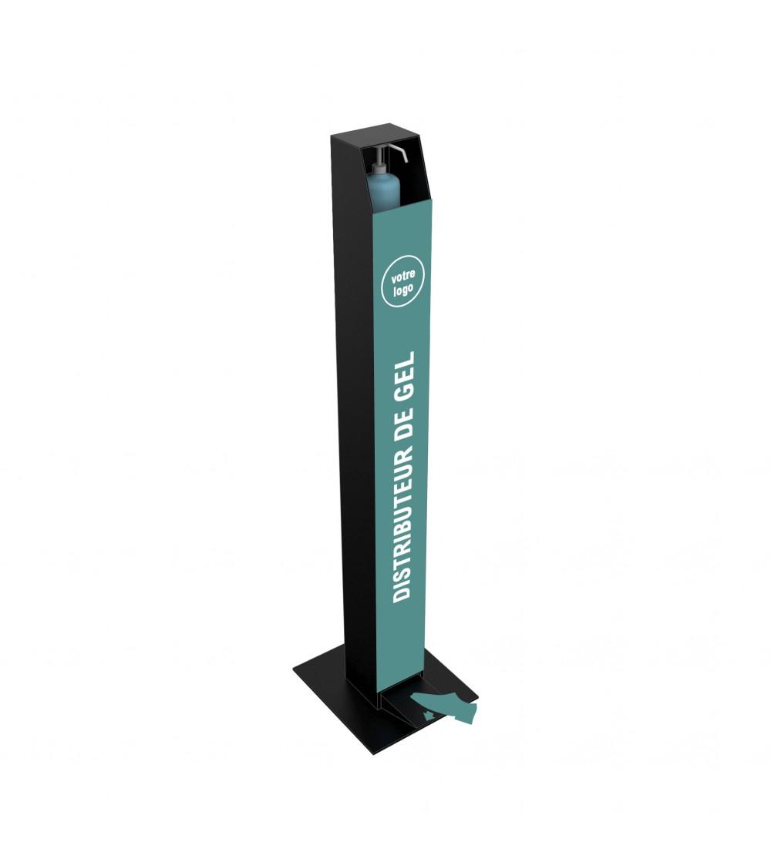 distributeur-pedale-gel-hydroalcoolique-presentoir