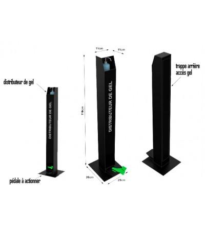 distributeur-support-pedale-gel-hydroalcoolique-