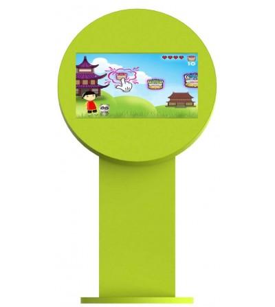borne-tactile-interactive-enfants-jeux-verte